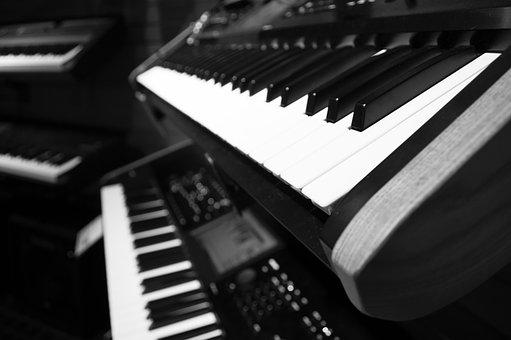 Notes, Music, Piano, Keyboard, White, Black, Keys