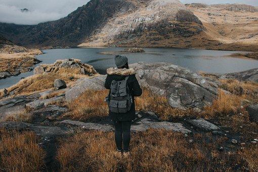 People, Girl, Hiking, Climbing, Mountain, Adventure