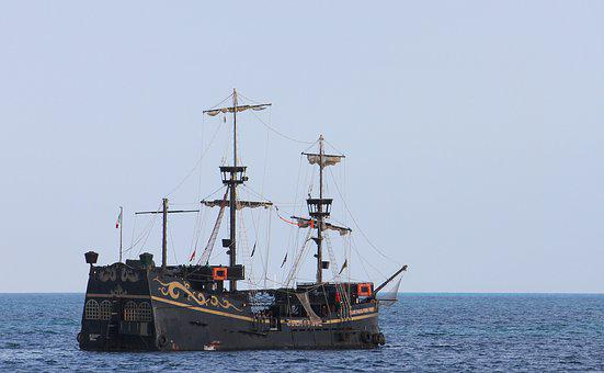 Galleon, Pirates, Carribean, Ship, Sea, Old, Boat