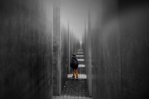 Perspective, Monument, Grey, Gray, Kid, Boy, Berlin