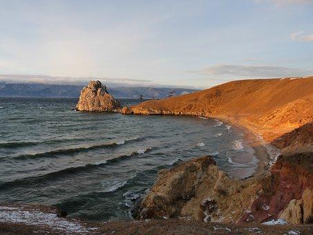 Baikal, The Shaman Stone, Lake, Rock, Rocks, Journey