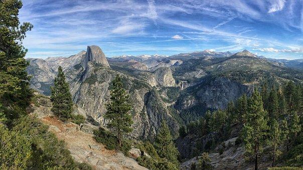 Nature, Landscape, Aerial, Travel, Adventure, Mountain