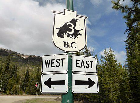 Road Sign, Raven, Crow, Black, Bird, Route, Highway