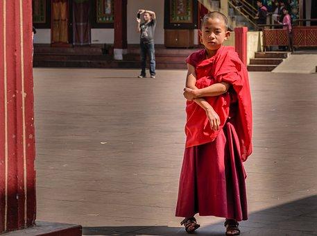 Small Monk, Monastery, Single Monk, Religious, Asia