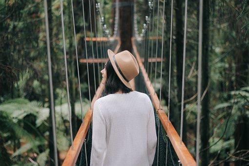 People, Girl, Woman, Travel, Walking, Alone, Hat