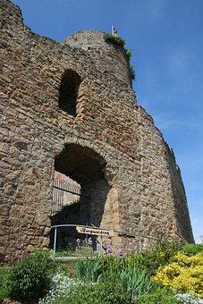 Castle, Summer, Ruin, Romanesque, Wall, Destination