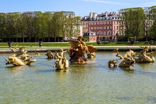 Versailles, Park, Lake, City, Landscape, Water