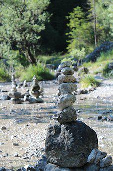 Stones, Stone Tower, Stone, Cairn, Tower