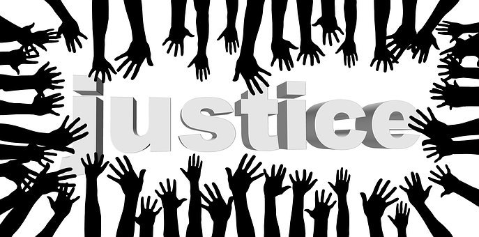Justice, Fairness, Community, Friends, Globe