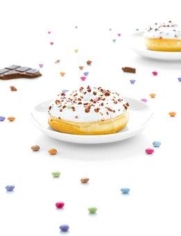 Food, Dessert, Sweet, Donut, Sprinkles, White, Table