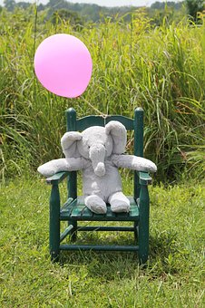 Baby Announcement, New Baby, Elephant, Gray And Pink