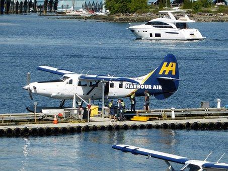 Transport, Plane, Seaplane, Port, Vancouver, Flight