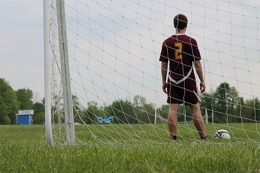Soccer, Senior Photo, Field, Goal