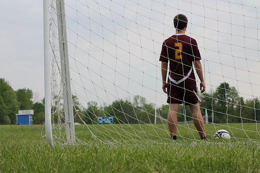 Soccer, Senior Photo, Field, Goal