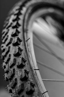 Wheel, Rubber, Bicycle, Nobody, Macro, Perspective, Old