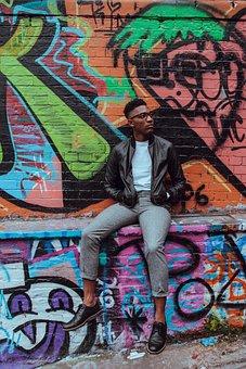 People, Man, African American, Fashion, Street, Wall