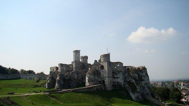 Castle, Old Castle, Ogrodzieniec, Castle Ruins