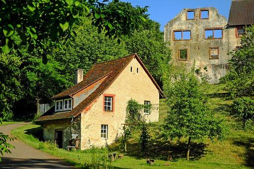 Castle Sponeck, Height Burg, Castle, Decay, Ruin, Old