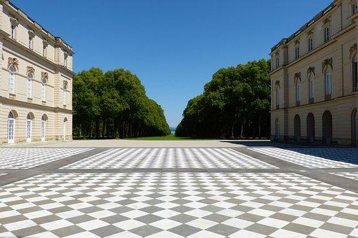 Herrenchiemsee, Sachovnice, Castle, Symmetry, Pamatky