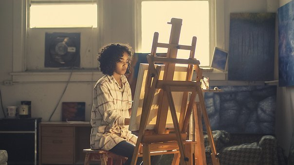 Artist, Painter, Easel, Canvas, Painting, Picture