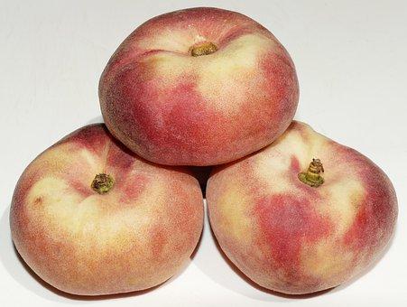 Peach, Flat Peach, Stone Fruit, Platt, Prunus Persica