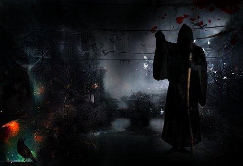 Death, Dark, Black, Horror, Raven, Halloween, Scary