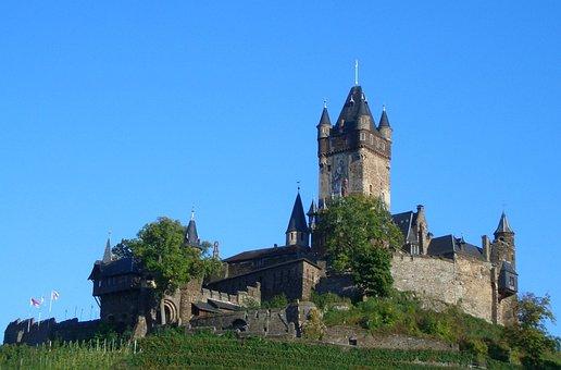 Cochem, Castle, Reichsburg Cochem, Middle Ages, Sachsen