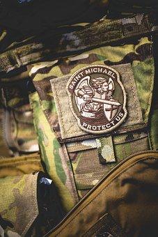 Patch, Saint Michael, Religion, Faith, Archangel, Army