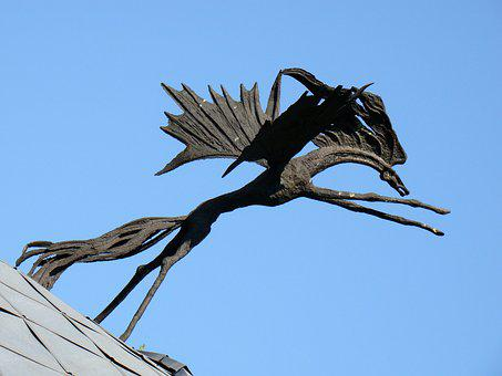 Sculpture, The Horse, Metal Horse, The Art Of, Monument