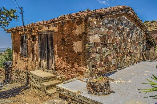 Cyprus, Fikardou, House, Deserted, Abandoned, Village
