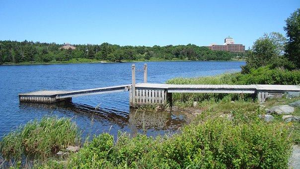 Wharf, Dock, Jetty, Wooden, Pond, Lake, Water