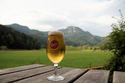 Beer, A Glass Of Beer, Jezersko, Julian Alps, Slovenia