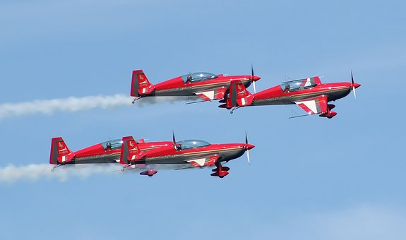 Royal Jordanian Falcons, Bray Air Show, Air Display