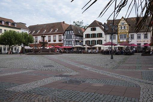 Building, City, Architecture, Fountain, Marketplace