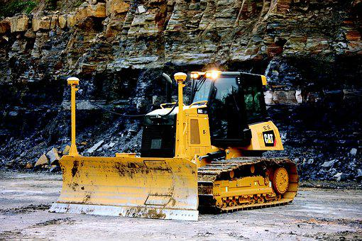 Dozer, Cat, D6k, Pile, Loading, Caterpillar