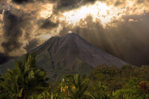 Costa Rica, Volcano, Landscape, Costa, Rica, Nature