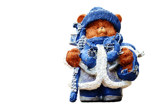 Christmas, Teddy, Figure, Santa Hat, Fun, Funny, Cute