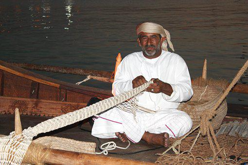 Dhow, Doha, Nets, Fisherman