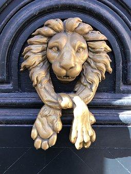 Door, Lion, Knocker, Handle, Decoration, Head, Doorway