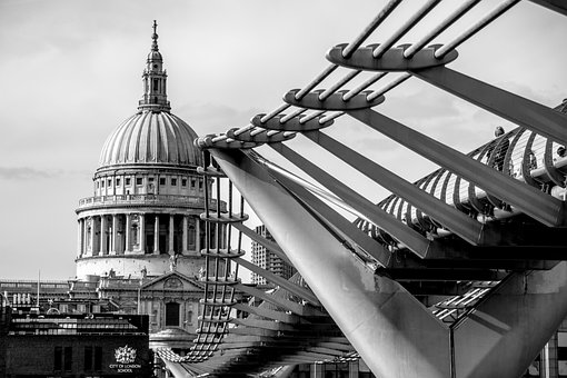 St Pauls Cathedral, London, Bridge, Cathedral, England