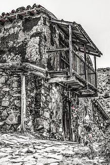 Cyprus, Fikardou, Village, House, Old, Architecture