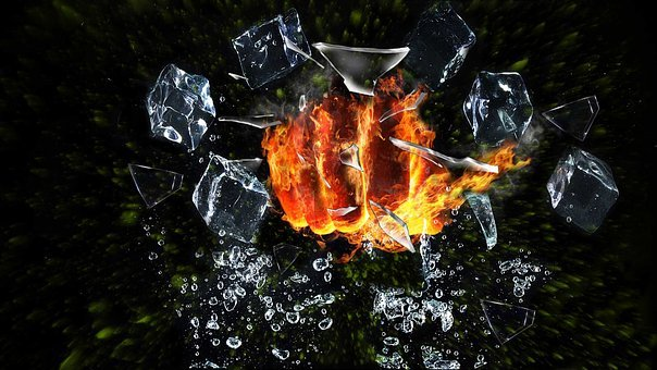 Fist, Fire, Breaking, Glass, Fantasy, Manipulation