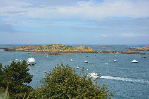 Sea, Chausey Islands, Marina, Sky, Normandy, France