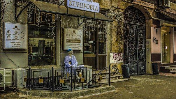 Odessa, Mental Hospital, Monument, Street