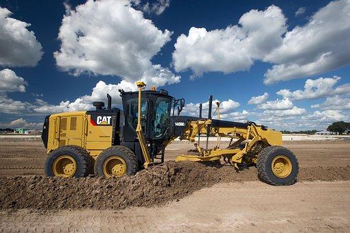 Grader, Mining Vehicle, Cat, Caterpillar, 120m