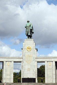Berlin, Soviet, Soldier, Monument, Germany, War