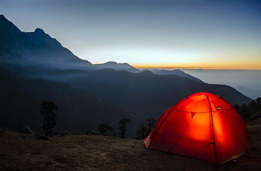 Camping, Travel, Sunrise, Adventure, Nature, Vacation