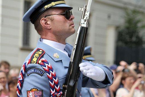 Guard, Rifle, Czech, Republic, Castle
