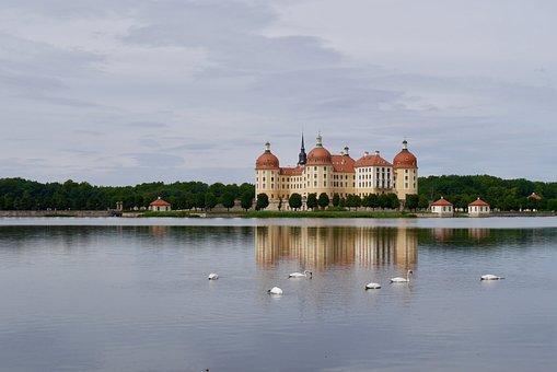 Castle, Moritzburg, Germany, Saxony, Baroque, Dresden