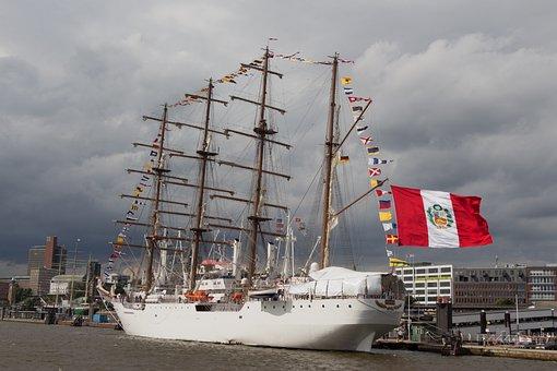 Ship, Seafaring, Veermaster, Boot, Harbour Cruise